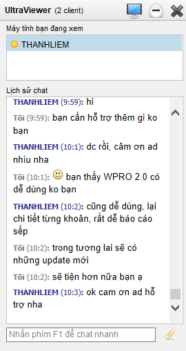cua hang may tinh thanh liem - phan hoi phan mem ban hang wpro 2.0