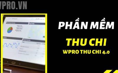 WPRO THU CHI: Nâng cấp tính năng mới