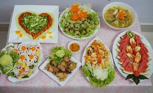 Mẫu thực đơn món ăn hàng ngày excel