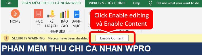 enable macro, enable editing